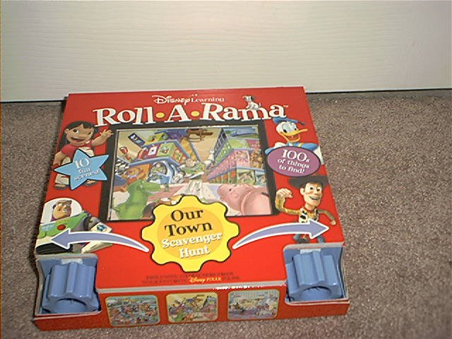 DISNEY LEARNING ROLL-A-RAMA OUR TOWN SCAVENGER HUNT ROLLING BOOK BRAND NEW!