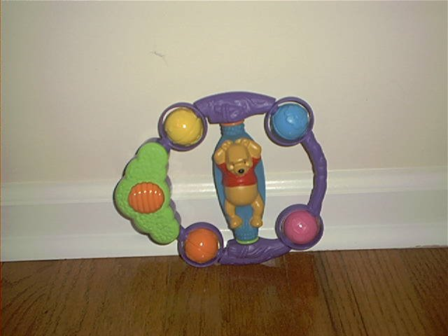 DISNEY WINNIE THE POOH MUSICAL BABY RATTLE EXCELLENT CONDITION