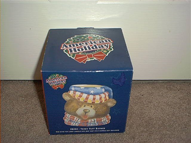 AMERICAN HOLIDAY MERRY CHRISTMAS TEDDY TART BURNER BRAND NEW IN BOX
