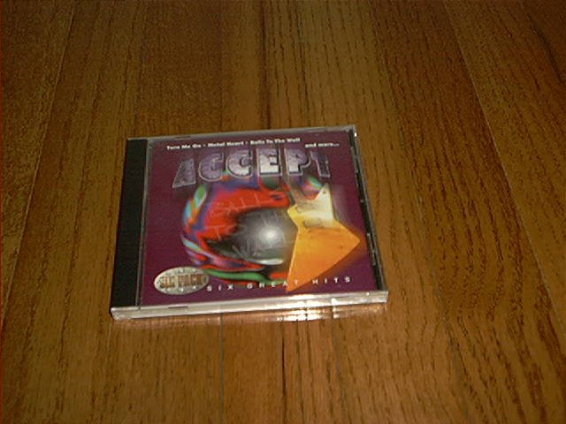 ACCEPT BALLS TO THE WALL SIX GREAT HITS CD BRAND NEW OUT OF PRINT