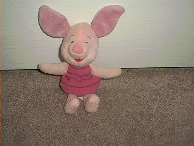 DISNEY WINNIE THE POOH PIGLET PLUSH BEANIE EXCELLENT CONDITION