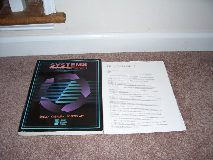 SYSTEMS ANALYSIS AND DESIGN BOOK EXC 1998 SHELLY CASHMAN SERIES