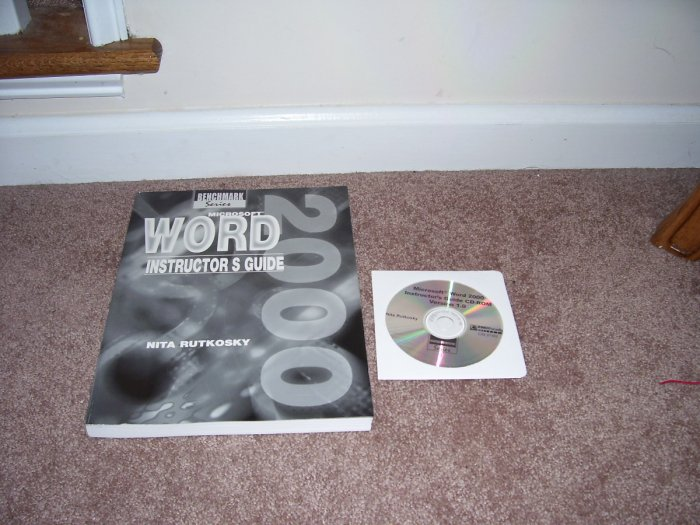 MICROSOFT WINDOWS 2000 INSTRUCTOR'S GUIDE BOOK w/CD-ROM LIKE NEW!