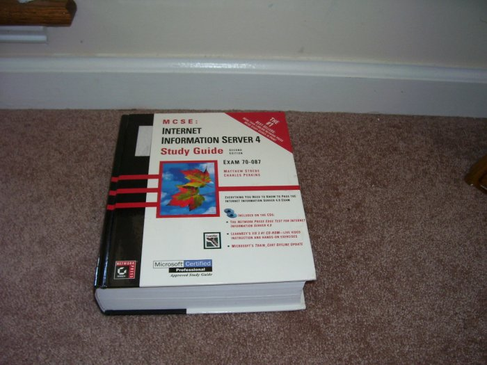 MCSE INTERNET INFORMATION SERVER 4 STUDY GUIDE BOOK H/C w/2 SEALED CDROMS!