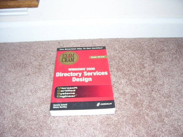 EXAM CRAM WINDOWS 2000 DIRECTORY SERVICES DESIGN BOOK NEW!