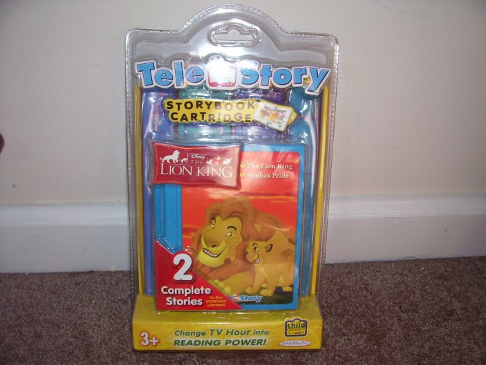 TELE STORY Disney THE LION KING STORYBOOK CARTRIDGE NEW! 2 STORIES!
