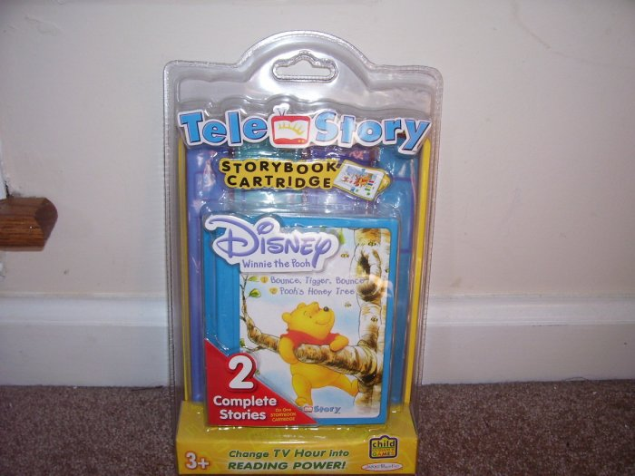 TELE STORY Disney WINNIE THE POOH STORYBOOK CARTRIDGE NEW! 2 STORIES