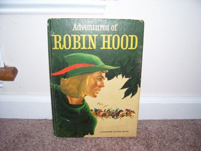 VINTAGE 1953 ADVENTURES OF ROBIN HOOD BOOK VG RARE RANDOM HOUSE