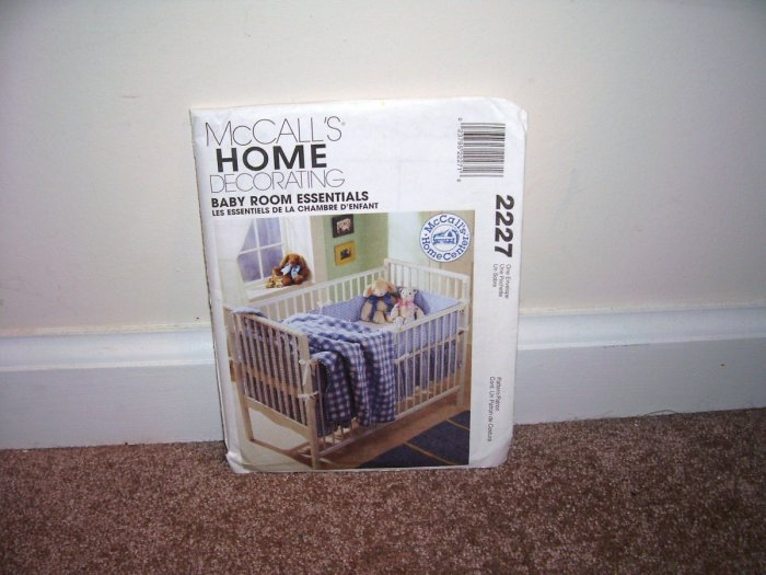 McCALLS Home Decorating BABY ROOM ESSENTIALS PATTERN #2227 From 1999