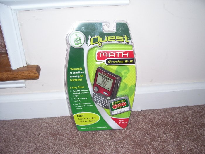 Leap Frog IQUEST ~ MATH ~GRADES 6 TO 8 Cartridge NEW! THOUSANDS OF QUESTIONS!