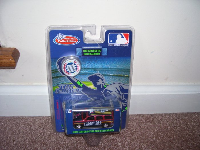 White Rose Collectibles ST LOUIS CARDINALS 2000 DIECAST SUV NEW!
