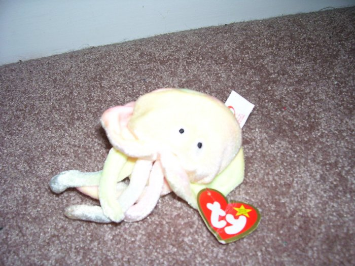 TY TEENIE Beanie Baby GOOCHY The Jellyfish EXCELLENT CONDITION with Tag! 1999