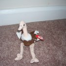 TY TEENIE Beanie Babies STRETCHY The Ostrich LOT OF 2 *  GOOD CONDITION!  FROM 1993 RETIRED!