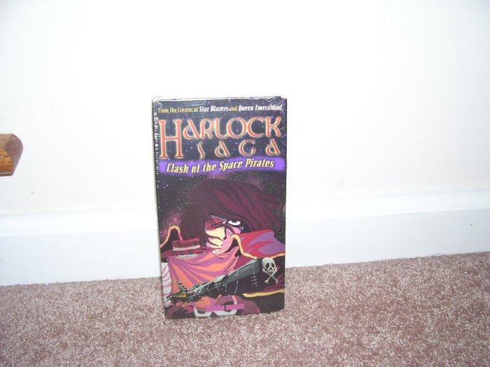HARLOCK SAGA CLASH OF THE SPACE PIRATES JAPANESE VHS NEW! ENGLISH