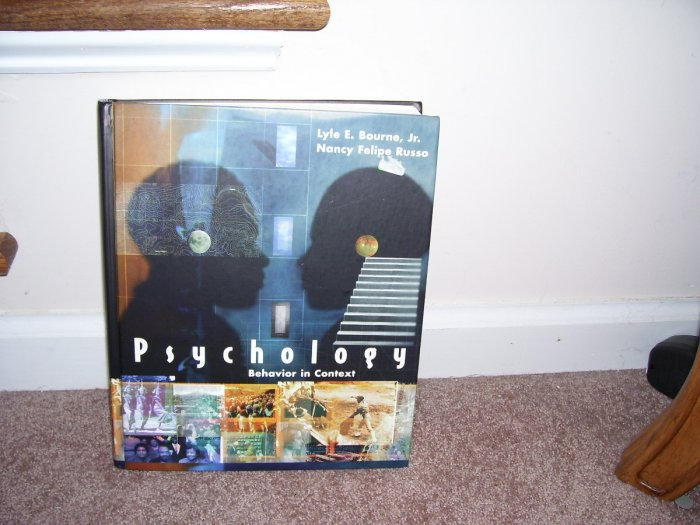 PSYCHOLOGY BEHAVIOR IN CONTEXT TEXTBOOK * INSTRUCTOR'S EDITION * LIKE NEW! HARDCOVER HTF!