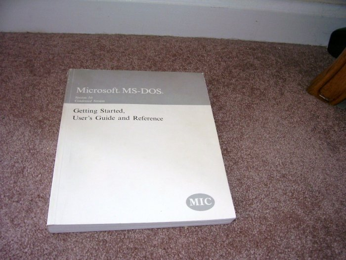 MICROSOFT MS-DOS 5.0 User's Guide & Reference book EXC! 1991