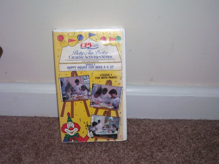 BETTY ANN LASLEY CREATIVE ACTIVITIES SERIES 3 VHS Video EXCELLENT CONDITION! HTF!