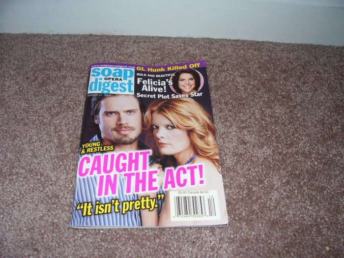 SOAP OPERA DIGEST Magazine MARCH 21, 2006 ISSUE EXC COND!