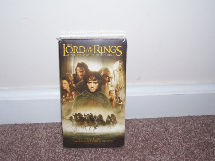 The Lord of the Rings THE FELLOWSHIP OF THE RING VHS VIDEO NEW!