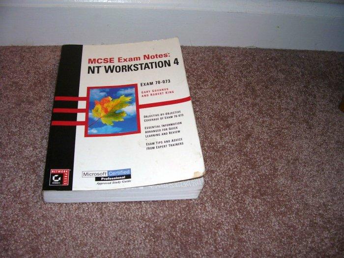 MCSE EXAM NOTES NT WORKSTATION 4 Book EXAM 70-073
