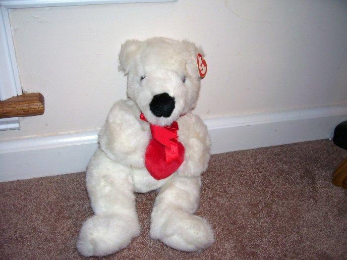 TY BEANIE BUDDY * ROMEO * WHITE PLUSH BEAR NEW WITH TAG! 1997 RETIRED