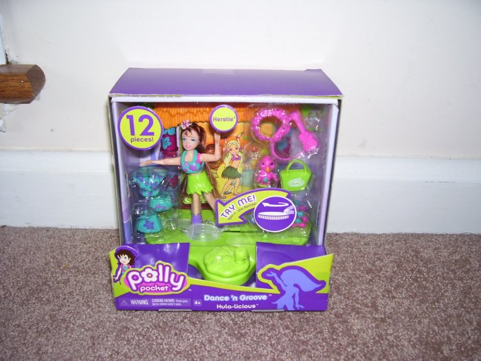 POLLY POCKET * DANCE 'N GROOVE HULA-LICIOUS KERSTIE PLAYSET * NEW!