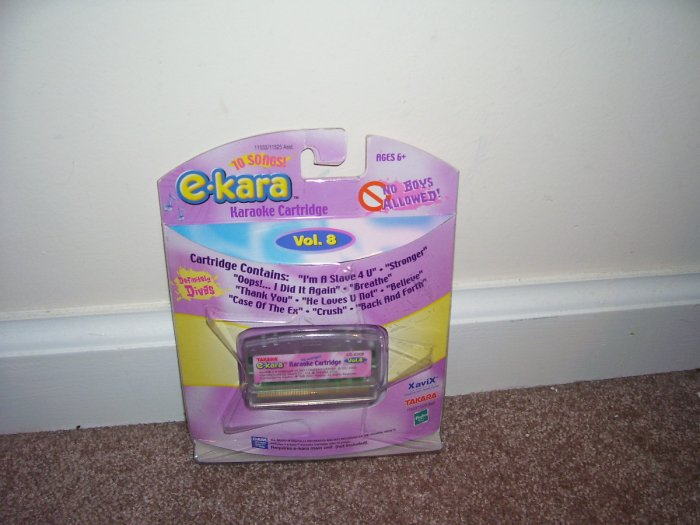 E-KARA * NO BOYS ALLOWED * 10 SONG KARAOKE CARTRIDGE NEW! HARD TO FIND!