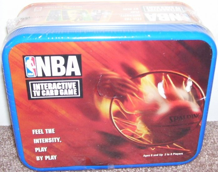 NBA INTERACTIVE TV CARD GAME * NEW IN TIN! * FROM 1998 HTF!