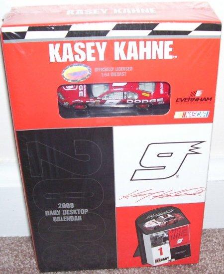KASEY KAHNE 2008 DAILY DESKTOP BOXED CALENDAR * NEW * w/DIECAST CAR!
