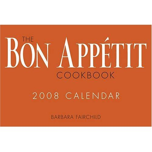 THE BON APPETIT COOKBOOK 2008 BOXED CALENDAR NEW!