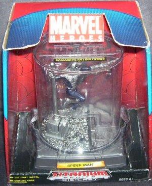 Marvel Heroes SPIDERMAN Titanium Diecast Figure with Patina Finish NEW!