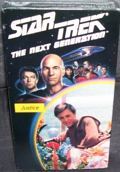 STAR TREK THE NEXT GENERATION * JUSTICE * VHS VIDEO NEW! SEALED!