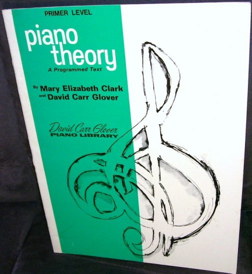 PIANO THEORY A PROGRAMMED TEXT * PRIMER LEVEL * WORK BOOK * GOOD CONDITION!