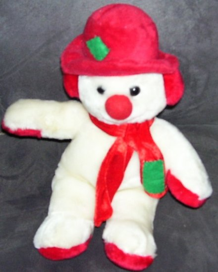"CHRISTMAS * SNOWMAN HOLIDAY PLUSH  * 10 1/2"" TALL Kellytoy"