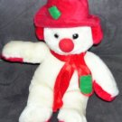 "CHRISTMAS * SNOWMAN HOLIDAY PLUSH  * 10 1/2"" TALL Kellytoy"