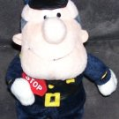 STUFFINS * FROSTY'S WINTER WONDERLAND * TRAFFIC COP PLUSH BEAN BAG 1999