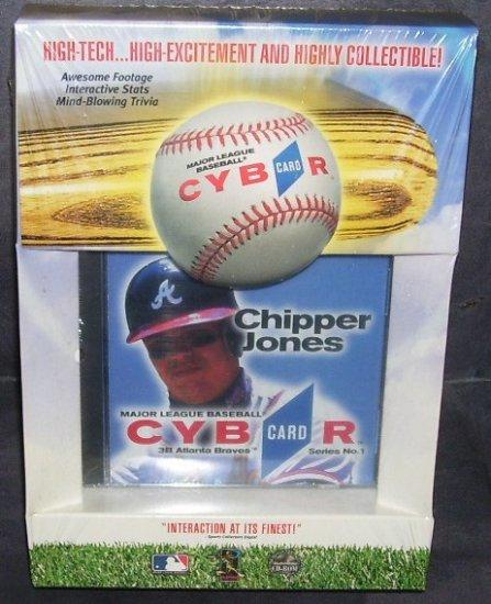 Atlanta Braves * CHIPPER JONES * CYBR CARD CD-ROM NEW IN BOX!