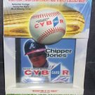 Atlanta Braves * CHIPPER JONES * CYBR CARD CD-ROM NEW IN BOX!