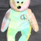 TY BEANIE BABY * PEACE * TY-DYED Beanie UNIQUE! No two alike!