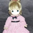 Vintage PRECIOUS MOMENTS * DRESSED * VINYL DOLL 10""