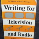 WRITING FOR TELEVISION AND RADIO Book 1982 Softcover 3rd Ed