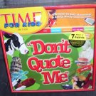 Time for Kids Edition DON'T QUOTE ME Game NEW! SEALED! 2007
