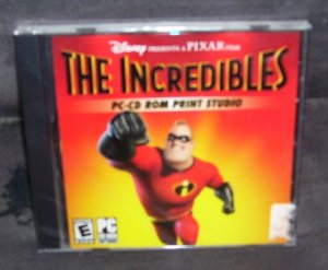Disney THE INCREDIBLES PC CD-ROM PRINT STUDIO NEW Sealed