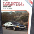 Clymer FORD TEMPO MERCURY TOPAZ 1984-1987 Shop Manual NEW/SEALED!
