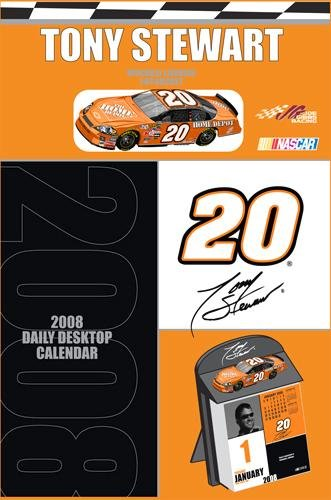 TONY STEWART 2008 Boxed Desk Calendar w/Diecast Car NEW!