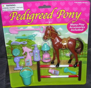 PEDIGREED PONY with Accessories Playset NEW!