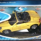 Mira by Solido Porsche Boxster YELLOW Convertible Diecast Car 1:18 Scale NEW!