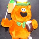 "HEATHCLIFF The Cat IRISH 14"" Plush in Top Hat Holding a Drink RARE!!"
