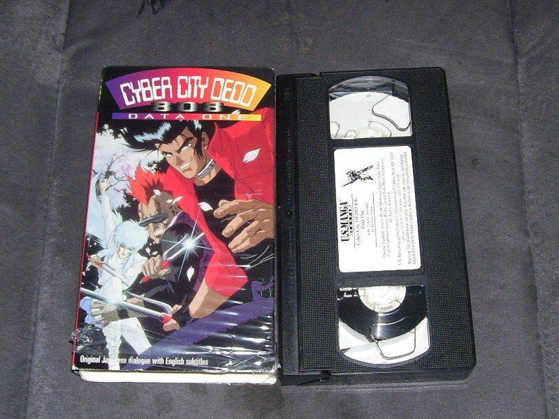 CYBER CITY OEDO 808 DATA ONE Japanese Anime VHS 1995