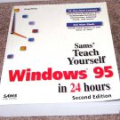 SAMS Teach Yourself Windows 95 in 24 Hours Book LIKE NEW! 1997
